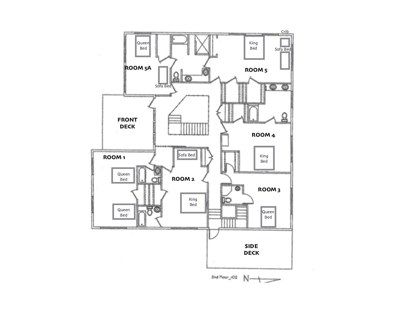 Lodge Second Floor Layout